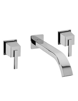 Mr Darcy 3 Hole Wall Mounted Basin Mixer Tap - 53090