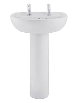 Balterley Gateway 550mm 2 Tap Hole Basin With Full Pedestal
