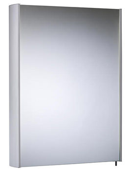 Move 482mm Single Mirror Door Aluminium Cabinet - MO48AL