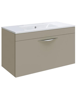 Related Hudson Reed Memoir Cashmere 600mm Wall Hung 1 Drawer Unit - CAB181