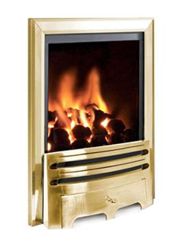 Flavel Kenilworth Manual Control Inset Gas Fire Brass - FRDC1SMN