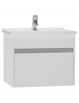 S50 High Gloss White 600mm Washbasin Unit - 54734