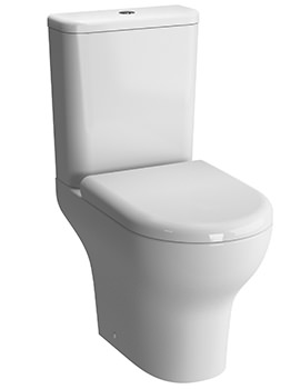 Zentrum Open Back Close Coupled WC Pan With Cistern