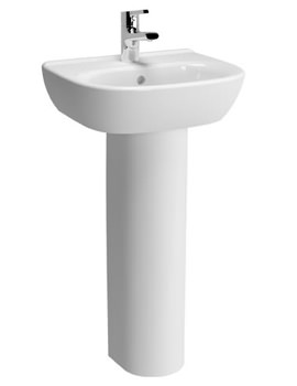 VitrA Zentrum 450mm 1 Tap Hole Basin And Full Pedestal