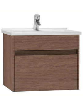 VitrA S50 Oak 600mm Washbasin Unit - 54736
