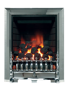 Be Modern Classic Traditional Slimline Inset Gas Fire Chrome - 8133