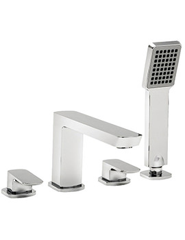 Vamp 4 Hole Bath Shower Mixer Tap With Kit Chrome