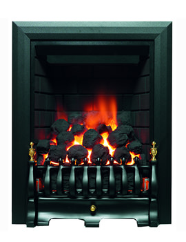Be Modern Classic Traditional Slimline Inset Gas Fire Black - 8125