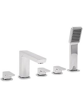 Vamp 5 Hole Bath Shower Mixer Tap With Kit Chrome