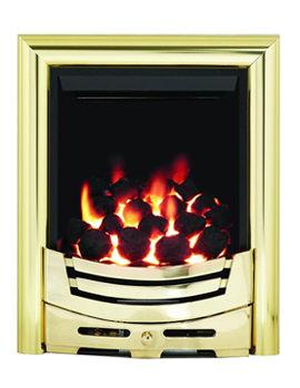 Signum Slimline Thermostat Inset Gas Fire Brass - 55115