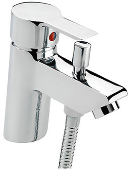 Angle Bath Shower Mixer Tap With Shower Kit Chrome - 22160