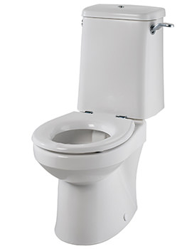 Sola Rimless Close Coupled WC Pan 495mm - SA1968WH