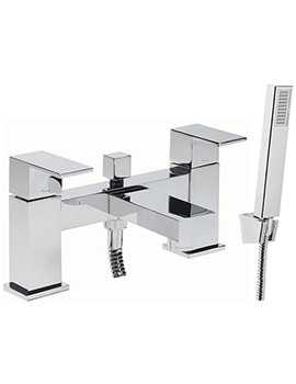 Tavistock Index Deck Mounted Bath Shower Mixer Tap With Kit - TND42