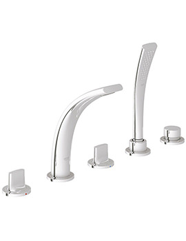 Ondus 5 Hole Bath Shower Mixer Tap Chrome - 31047 000