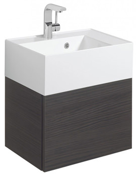 Elite 500mm Single Drawer Anthracite Wall Hung Basin Unit