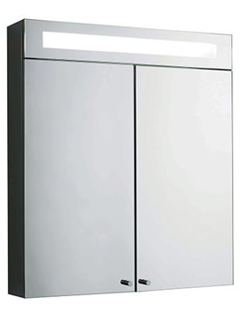 Sidley Double Door Mirrored Cabinet With Light 700 x 620mm