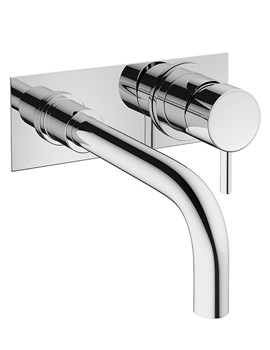 Related Crosswater Mike Pro 2 Hole Wall Mounted Chrome Basin Mixer Tap With Plate
