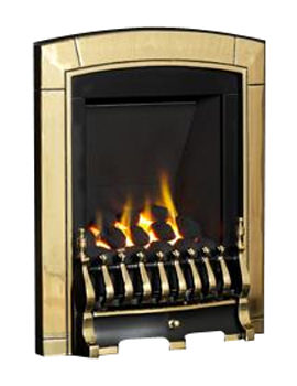 Flavel Caress Manual Control Slimline Inset Gas Fire Brass