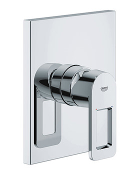 Quadra Concealed Single Lever Shower Mixer Valve Trim - With Or Without Diverter