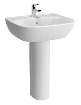 Zentrum 600mm Washbasin And Full Pedestal