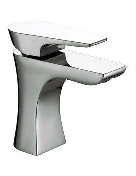 Hourglass Basin Mixer Tap With Clicker Waste