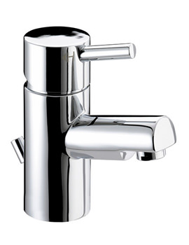 Prism Chrome Small Basin Mixer Tap With Pop-Up Waste - PM SMBAS C