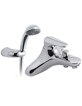 Chelsea Deck Mounted Single Lever Bath Shower Mixer Tap WIth Kit