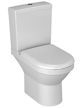 S50 Compact Close Coupled Open Back WC Pan And Cistern
