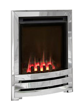 Flavel Windsor Manual Control Contemporary HE Gas Fire Silver-Coal