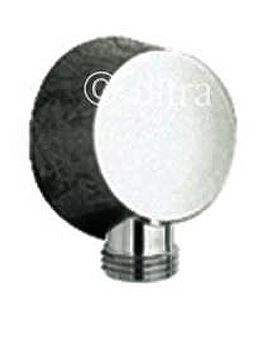 Ultra Round Chrome Outlet Elbow - A3203