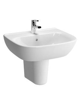 VitrA Zentrum 600mm 1 Tap Hole Basin And Semi Pedestal