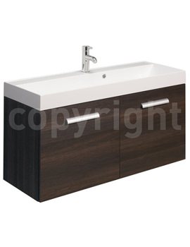 Related Bauhaus Design 1000mm Two Door Wall Hung Basin Unit Panga