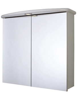 Thames Double Door Illuminated Mirror Cabinet - WC146122E