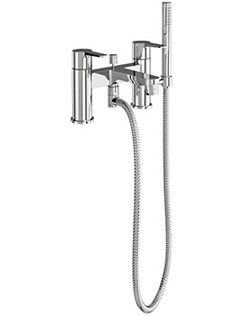 Britton Crystal Bath Shower Mixer Tap Chrome
