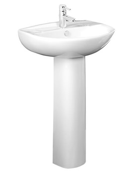 Micra 1 Tap Hole 565mm Basin And Pedestal - DB100S - PE100S