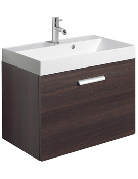 Design Plus 700mm Single Drawer Wall Hung Basin Unit Panga