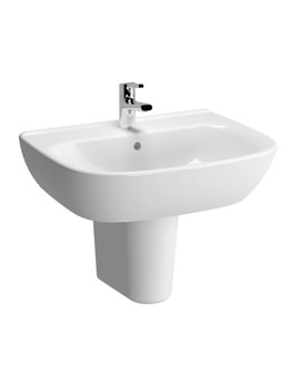 VitrA Zentrum 650mm 1 Tap Hole Basin And Semi Pedestal
