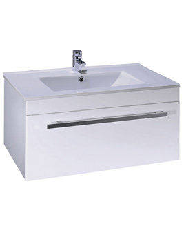 Pearl Basin Unit And Basin 800mm x 350mm - EF114W - EF115W