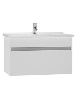 VitrA S50 High Gloss White 800mm Washbasin Unit - 54738