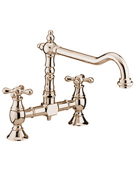 Colonial Bridge Sink Mixer Tap Brushed Nickel - K BRSNK BN