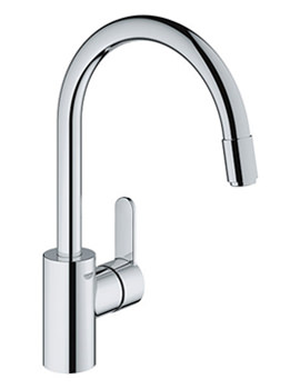 Eurostyle Cosmo Mono Sink Mixer Tap With Pull Out Mousseur Spout