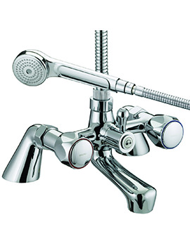Bristan Value Club Pillar Bath Shower Mixer Tap - VAC PBSM C MT
