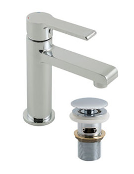 Ion Mini Mono Basin Mixer Tap With Clic-Clac Waste