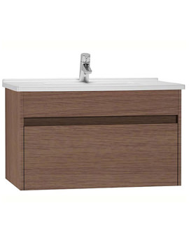 VitrA S50 Oak 800mm Washbasin Unit - 54740