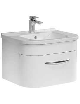 Tavistock Desire 600mm White Wall Mounted Unit Including Basin