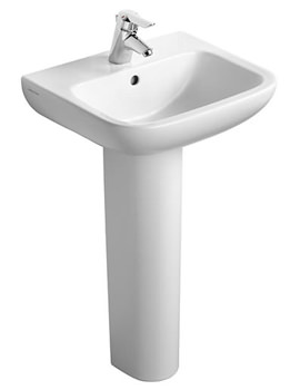 Portman 21 50cm 1 Taphole Pedestal Basin With Overflow