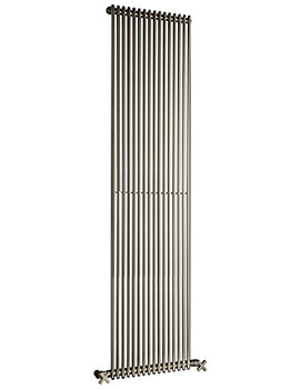 DQ Heating MKV16 Chrome 1210mm High Single Vertical Radiator 6 to 35 Sections