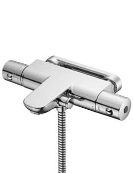 Alto Ecotherm Wall Mount Thermostatic Bath Shower Mixer Tap
