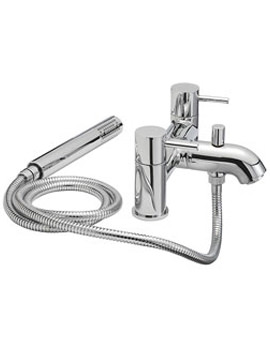 Milan Pillar Mounted Bath Shower Mixer Tap With Shower Kit