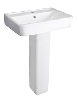 Granger White 520mm Basin With Full Pedestal - CBA003